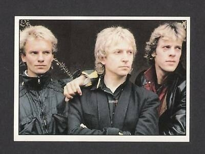 Sting The Police  Scarce 1987 TV Music Sticker Italy