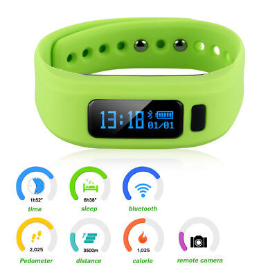 Intelligente Bracciale Orologio Bluetooth Bracelet Monitore Call Notifica Verde