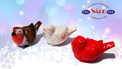 Wade Robin Whimsie Hand Painted, Lustre and Red Set of Three