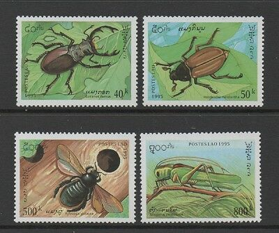 Laos 1995 Insects *very Fine Set* Mnh