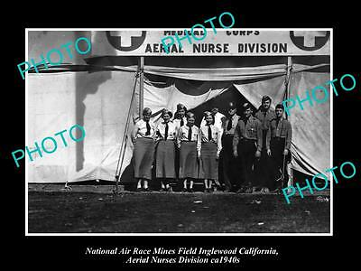 Old Historic Aviation Photo, Usa National Air Race Aerial Nurses Division 1940