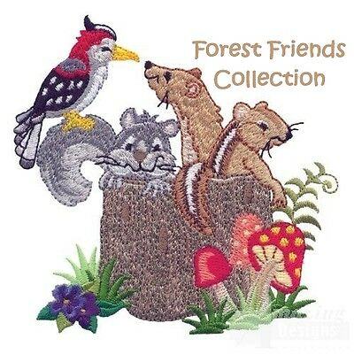 Forest Friends Collection - Machine Embroidery Designs On Cd