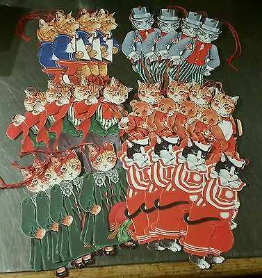 24 x GORDON FRASER CAT THEMED LARGE GIFT / PRESENT TAGS