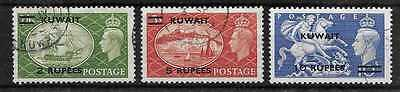 Kuwait  Sg 90/92  Top Values From Gvi 1950/54 Set   Fine Used