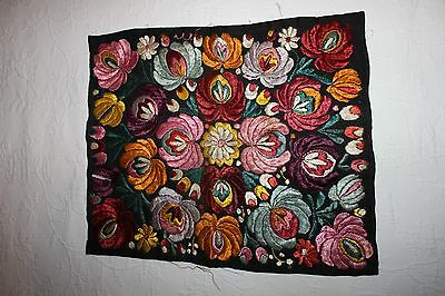 Vintage Fabric with Embroidered Flowers