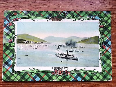 Vintage Colour Postcard 1912 Rothesay Bay - posted