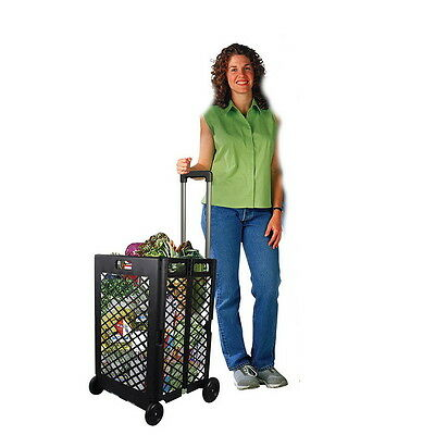 New Shopping Cart Basket Storage Rolling Portable Folding Wheel Utility Grocery