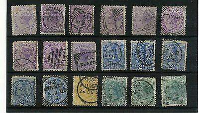 New Zealand. 18 --  Qv Used Stamps On Stockcard. Mixed Condition