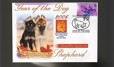 German Shepherd 2006 C/i Year Of The Dog Stamp Cover 3