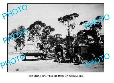 OLD LARGE PHOTO SUNSHINE HARVESTER IN ACTION c1920 WA 2