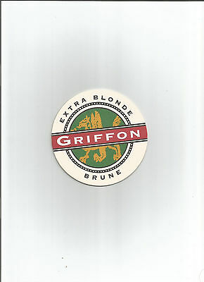 Canadian GRIFFON EXTRA BLONDE BROWN ST AMBROISE McAUSLAN BREWING BEER COASTER