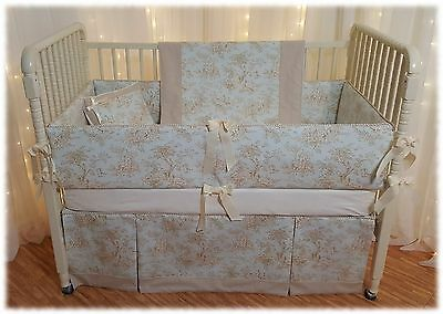 4 Piece Chic Toile Crib Bedding Set! A Mainstreet Baby Suite® Exclusive! Look!