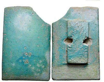Ancient Egyptian Blue-green faience tile. Old Kingdom, 2686-2181 BC