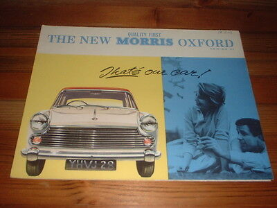 Morris Oxford Series V1 Sales Brochure
