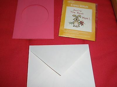 Hobbycraft Cross Stitch 'You're The Best Mum!' With Pink Card & Envelope New