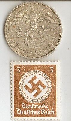 -*WW2 - *US  and  *german  coins  and   stamp +..