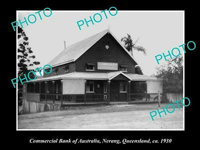 OLD LARGE HISTORIC PHOTO OF NERANG QLD, COMMERCIAL BANK OF AUSTRALIA c1930