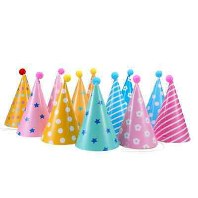 Soamazing Party Hats, Lovely Paper Cone Birthday Party Hats for Children and Adu