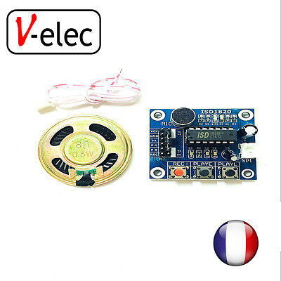 ISD1820 recording module voice with Microphones + Loudspeaker for arduino