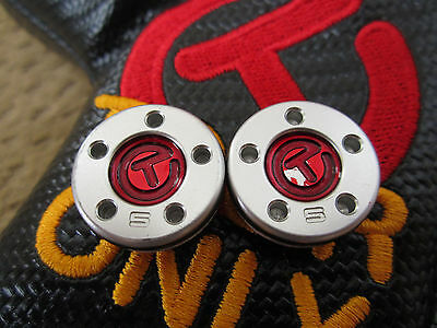 Scotty Cameron RED Tour Only CIRCLE T 5G Cherry Bomb Select Weights