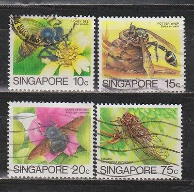 Singapore - 1980 - Insects - 4 Stamps