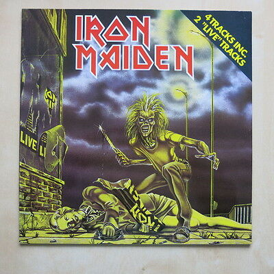 """IRON MAIDEN Sanctuary Dutch 4 track 12"""" single in picture sleeve EMI 1A K052Z-07"""