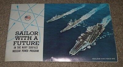 1966 Us Navy Sailor W/ Future Nuclear Power Program Brochure Booklet Chillicothe