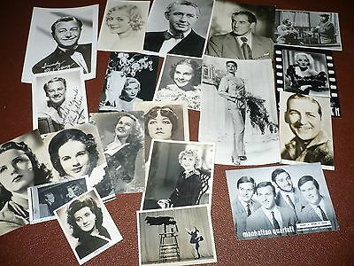 Vintage Job Lot Of Film Stars Photo,s And Postcards,,some Autographed