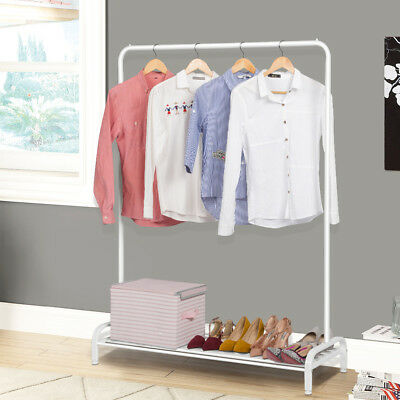 Commercial Grade Collapsible Clothing Double Rolling Garment Rack Hanger Holder