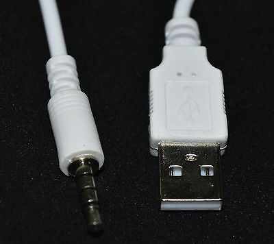 AUX Audio 3.5mm Jack/Plug to USB 2.0 charger Data Cable Audio Headphone Adapter