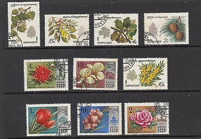 RUSSIA FLOWER  STAMPS USED .Rfno.172.