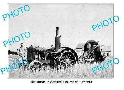OLD LARGE PHOTO SUNSHINE HARVESTER IN ACTION c1920 WA 3
