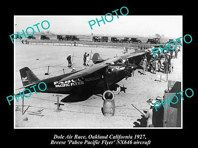 Old Historic Aviation Photo, Dole Air Race Winner 1927, The Pabco Pacific Flyer