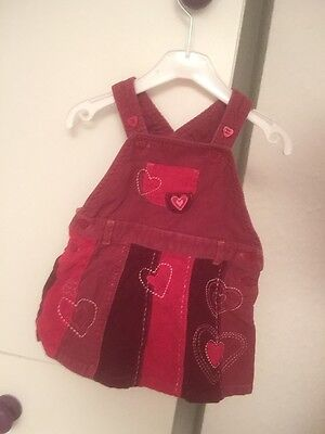 Next Girls Pink Cord Dress Age 3-6 Months Love Condition
