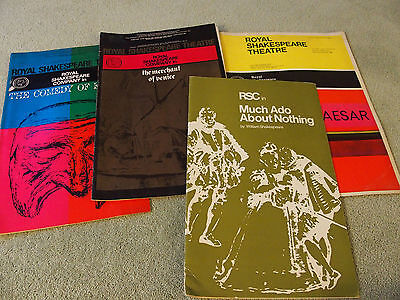 5 different Royal Shakespeare Company  programmes 1960's