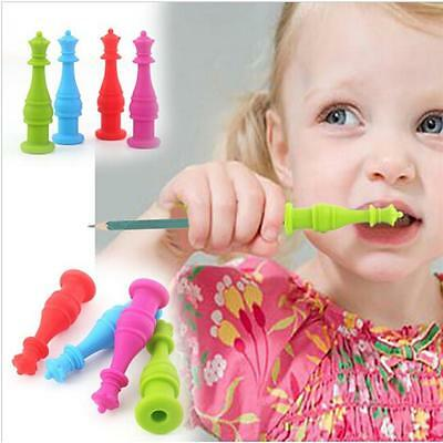 New Soft Silicone Chewable Pencil Toppers Children Therapy Toys Chewy Tubes -6A