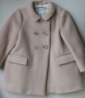 Bonpoint Baby Mohair Blend Poudre Rose Demure Coat Jacket 2 Years
