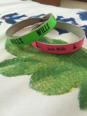 Pink And Green Jack Wills Wristbands