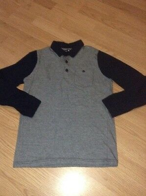 Hardly Worn Boys Smart Long Sleeve Collared T-Shirt Top Age 9-10 Years!! Party ?