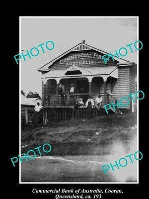OLD LARGE HISTORIC PHOTO OF COORAN QLD, COMMERCIAL BANK OF AUSTRALIA c1930
