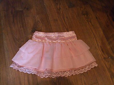 bnwt aged 7 - 8 years girls pink skirt party Summer Kids Tiered with Lace