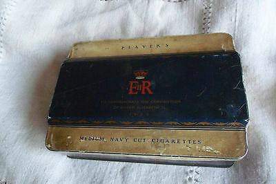 Player's Cigarette Tin To Commemorate The Coronation Of Queen Elizabeth Ii 1953