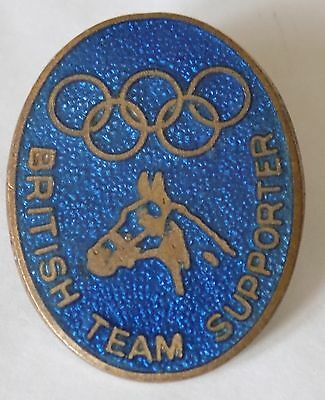 Olympic Games Equestrian British Team Supporters Badge (poss.1948 London)