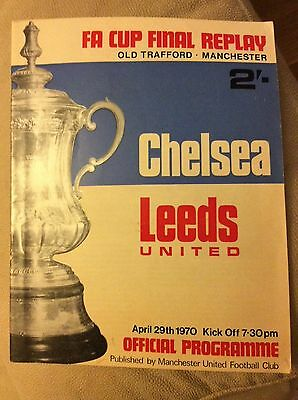 1969-70 Chelsea v Leeds United FA Cup Final Replay programme