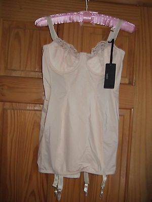VINTAGE  80s does 50s  FULL CORSET CORSELETTE GIRDLE CHARNOS 36C UNUSED tagged