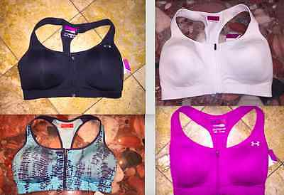 NWT UNDER ARMOUR Protégée High Support Front Zip Stocking Stuffer Sports Bra New