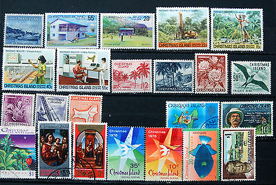 Collection of Different UMM & Fine Used Christmas Island Stamps.
