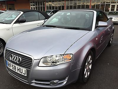58 Audi A4 Tdi 2.0 Cabriolet, Climate, Alloys, Parking Sensors, 1 F/owner,lovely