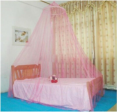 Mosquito dome Net fly insect Protection curtain Single Double king Size Bed Pink