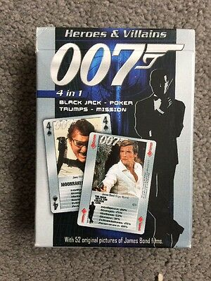 James Bond 007 Playing Cards - Heroes & Villains